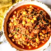 Spicy Turkey Chickpeas And Tomato Stew