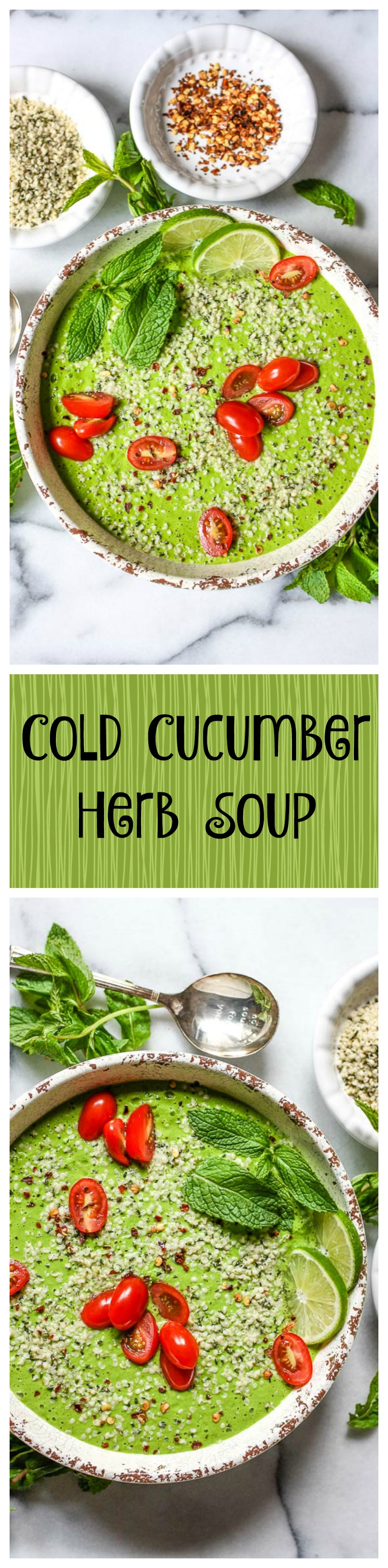 cold cucumber herb soup